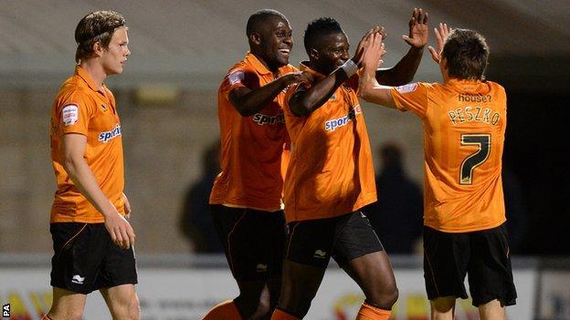 Wolves midfielder Bakary Sako