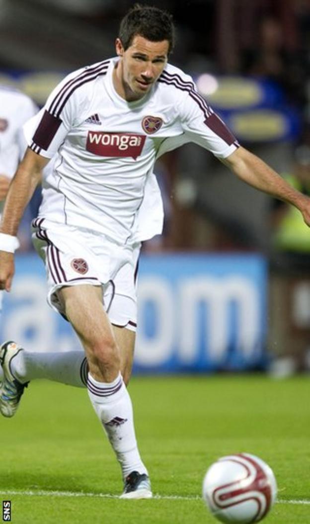 Hearts full-back Ryan McGowan