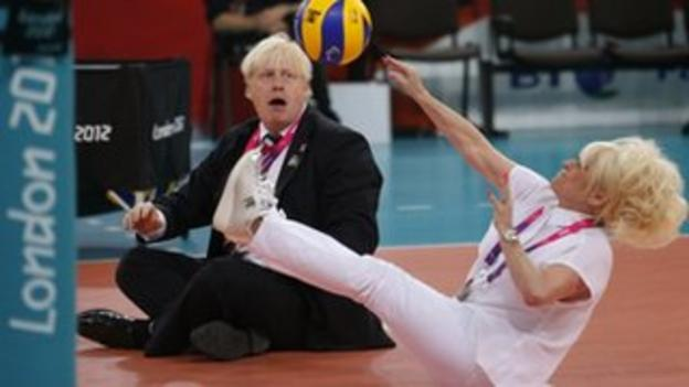 Mayor of London Boris Johnson and actress Barbara Windsor