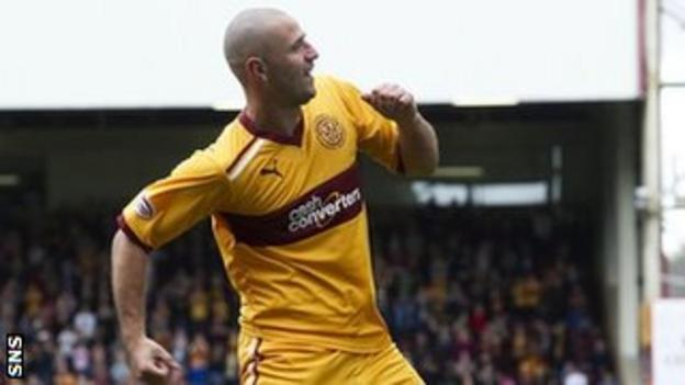 Motherwell forward Michael Higdon