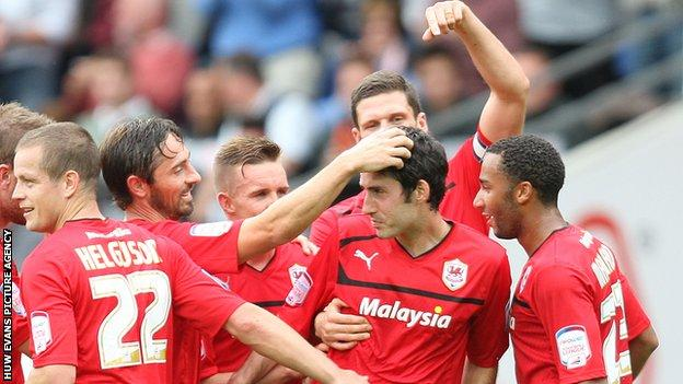 Peter Whittingham is the centre of attention after scoring a hat-trick against Wolves