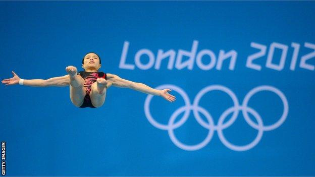 Wu Minxia wins Olympic diving gold