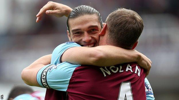 Andy Carroll and Kevin Nolan