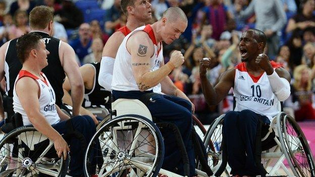 Wheelchair basketball player player Terry Bywater