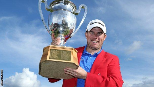 Richie Ramsay with his European Masters trophy