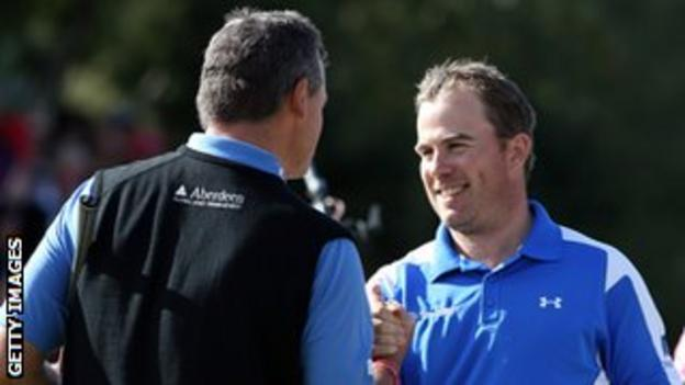Lawrie congratulates Ramsay after finishing eighth in Switzerland