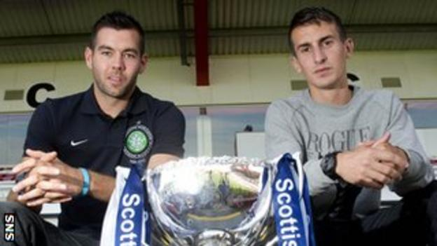 Joe Ledley's Celtic will take on Grant Anderson and his Raith Rovers colleagues