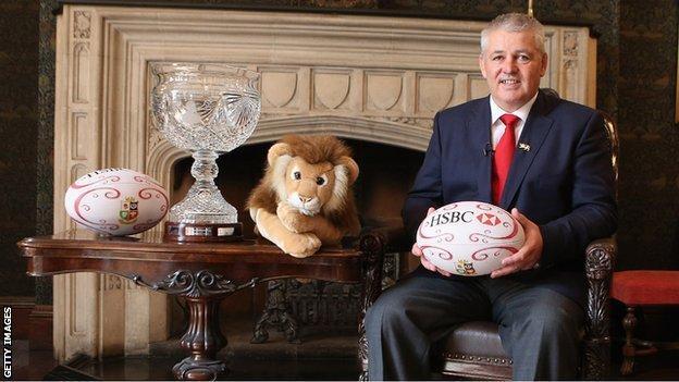 Lions coach Warren Gatland