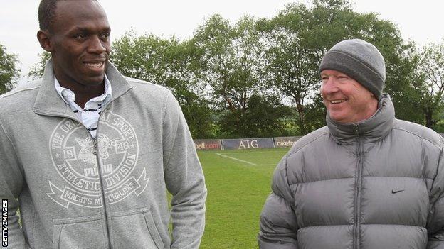 Usain Bolt and Sir Alex Ferguson