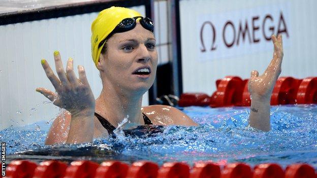 Emily Seebohm at 2012 London Olympics