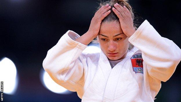 Majlinda Kelmendi at 2012 London Olympics