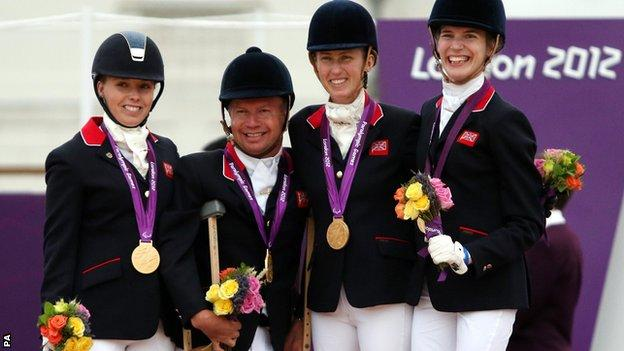 Sophie Wells, Lee Pearson, Deb Criddle and Sophie Christiansen