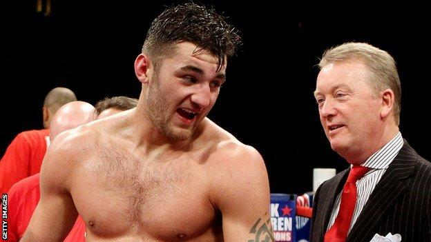 Nathan Cleverly and promoter Frank Warren