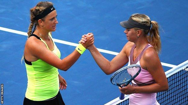 Victoria Azarenka and Maria Sharapova