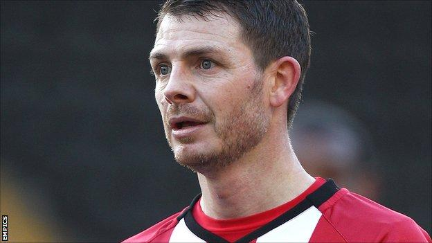 Exeter City striker Jamie Cureton