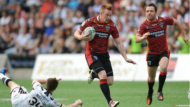 Chris Riley's first try v Widnes