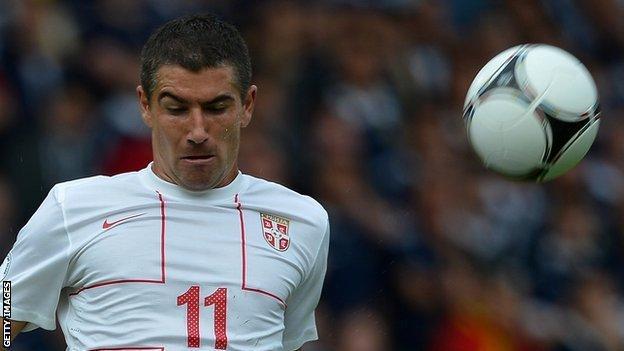 Serbian defender Aleksandar Kolarov