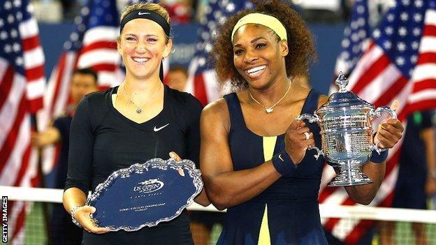 Victoria Azarenka (left) Serena Williams (right)