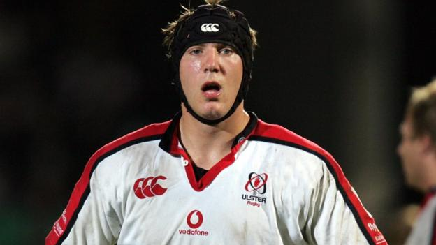 A young Stephen Ferris in action for Ulster in the Celtic League in May 2006