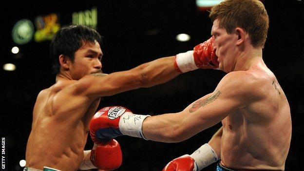 Manny Pacquiao thumps Ricky Hatton