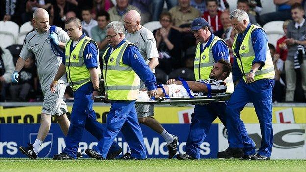 Darren McGregor was injured against Hibs