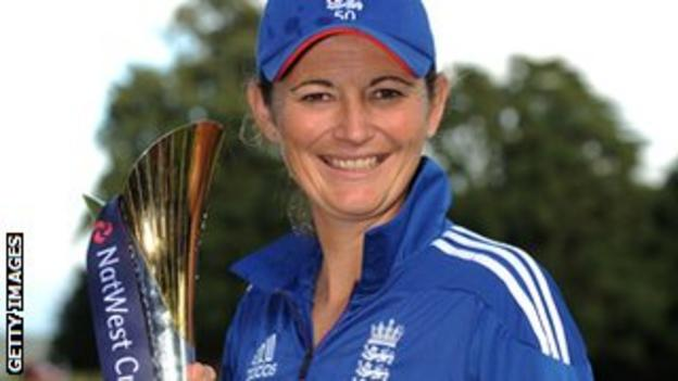 England captain Charlotte Edwards with the Twenty20 series trophy