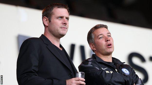 Chairman Darragh MacAnthony and manager Darren Ferguson