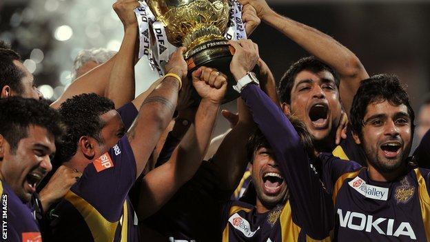 Kolkata Knight Riders celebrate their 2012 IPL success