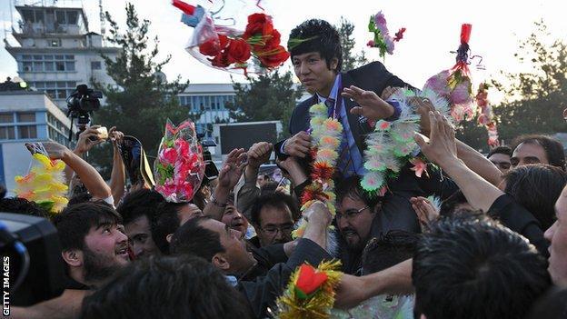 Afghanistan's Olympic bronze medallist Rohullah Nikpai