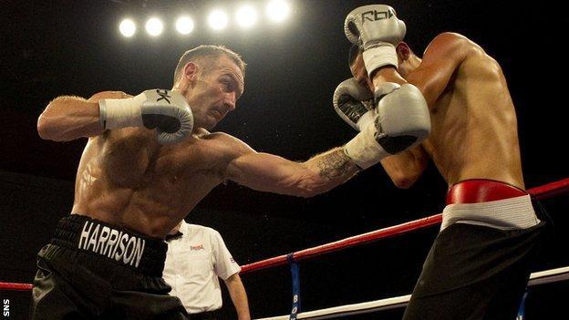 Scottish boxer Scott Harrison