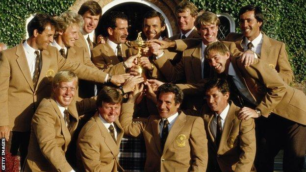 Europe win the Ryder Cup in 1985