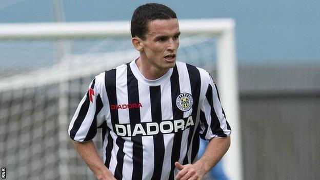 St Mirren midfielder Paul McGinn