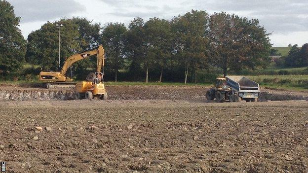 Work on Torquay's training ground at Seal Hayne