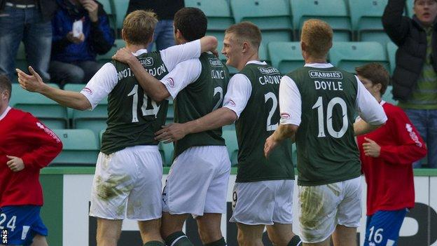 Hibs were held by Inverness after opening up a 2-0 lead at home