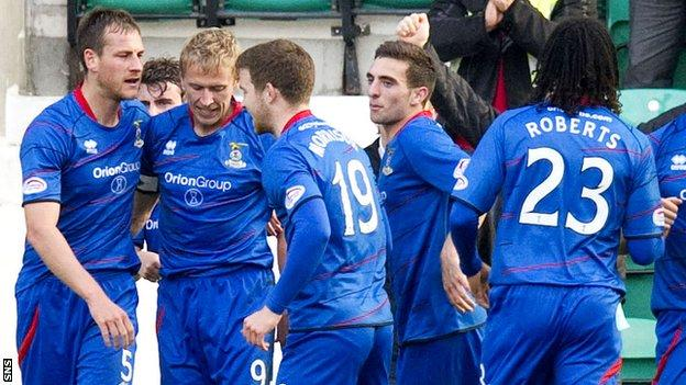 Inverness hit back from 2-0 down to draw at Easter Road