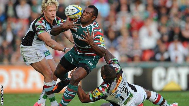 Harlequins take on Leicester