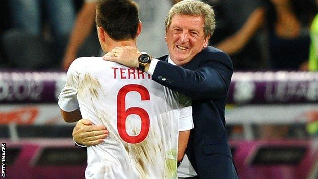 Roy Hodgson embraces John Terry