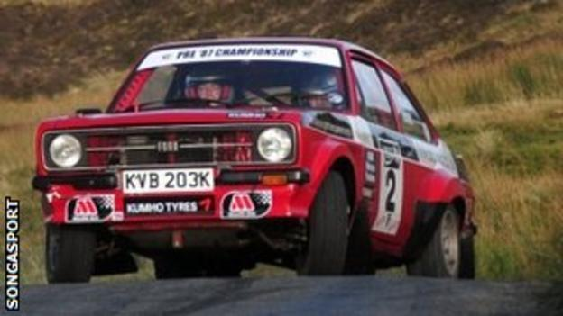Darren Moon and stand-in co-driver Dale Furniss