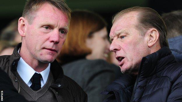 Stuart Pearce and Dave Bassett
