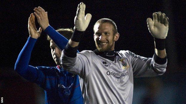Inverness goalkeeper Ryan Esson
