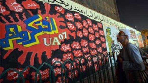 Graffiti art of Port Said victims