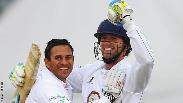 Usman Khawaja (left) and Ross Whiteley