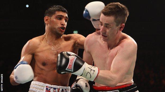 Amir Khan (left) and Paul McCloskey
