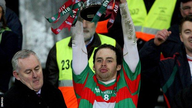 Brian Og Maguire led Lisnaskea to the All-Ireland Intermediate Club title last year