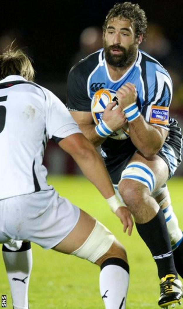 Josh Strauss struggled to make an impact on his debut for Glasgow