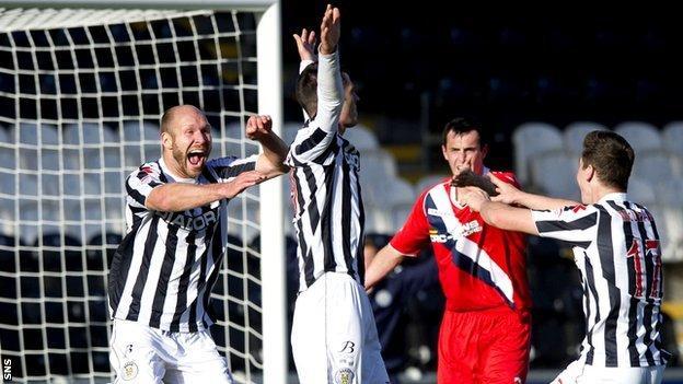 St Mirren goalscorer Steven Thompson