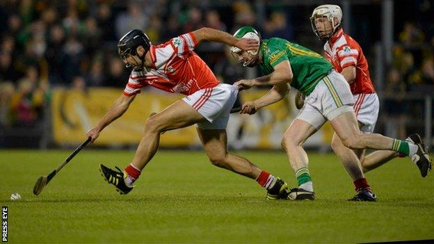Action from the match between Loughgiel and Dunloy