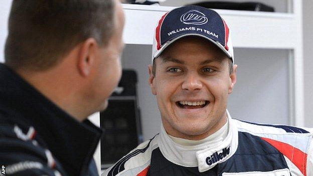 Williams test driver Valtteri Bottas