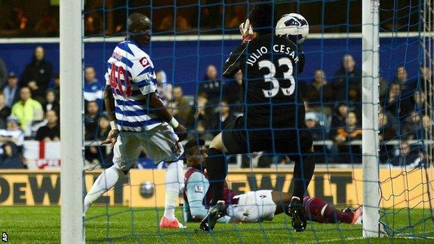 QPR goalkeeper Julio Cesar