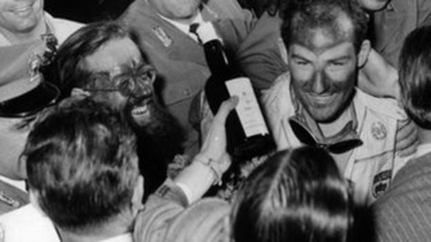 Stirling Moss wins the 1955 Mille Miglia